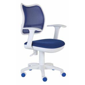 Кресло компьютерное Бюрократ CH-W797/BL/TW-10 синий/белый компьютерное кресло бюрократ ch w797 r tw 97n