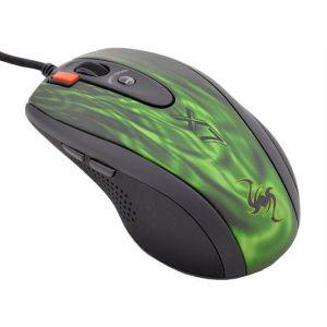 Мышь проводная A4tech XL-750BK green/black мышь проводная tt esports by thermaltake azurues mini mo arm005dt black