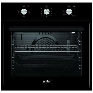 Встраиваемый духовой шкаф Simfer B6EB13001 чёрный встраиваемый газовый духовой шкаф simfer b6gm12011