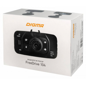 Автомобильный видеорегистратор Digma FreeDrive 104 чёрный cyu2 294 bk usb 2 0 a type male to female extension adapter black