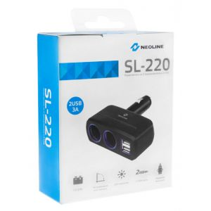 Разветвитель прикуривателя Neoline SL-220 разветвитель neoline sl 300