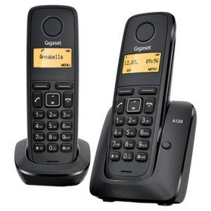 где купить Телефон беспроводной DECT Gigaset A120 Duo чёрный по лучшей цене