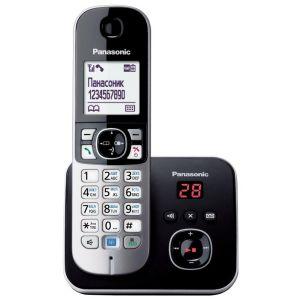 Телефон беспроводной DECT Panasonic KX-TG6821RUM серый металлопласт атс panasonic kx tem824ru аналоговая 6 внешних и 16 внутренних линий предельная ёмкость 8 внешних и 24 внутренних линий
