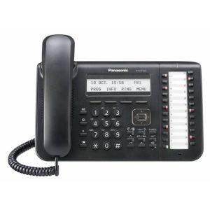 Телефон проводной Panasonic KX-DT543RUB чёрный системный телефон panasonic kx dt543rub