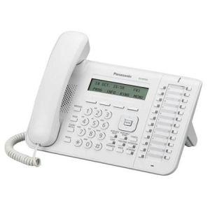 Телефон проводной Panasonic KX-NT553RU белый радиотелефон dect panasonic kx tg6811rub черный