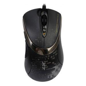 Мышь проводная A4tech F4 Black USB чёрный a4tech kr 750 smart black usb