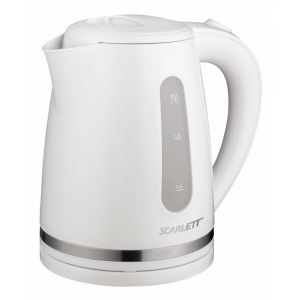 Электрический чайник Scarlett SC-EK18P34 белый чайник электрический scarlett sc ek18p15 2200вт красный
