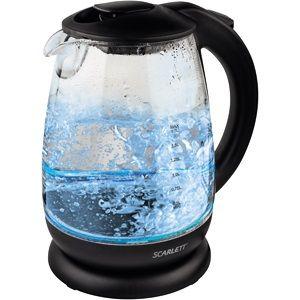 Электрический чайник Scarlett SC-EK27G15 черный электрический чайник scarlett sc ek18p15