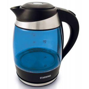 Электрический чайник Starwind SKG2216 черный/синий чайник электрический starwind skg2215 желтый черный