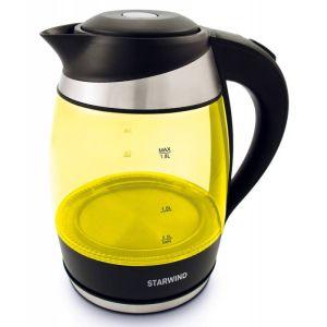 Электрический чайник Starwind SKG2215 черно-желтый чайник электрический starwind skg2215 желтый черный