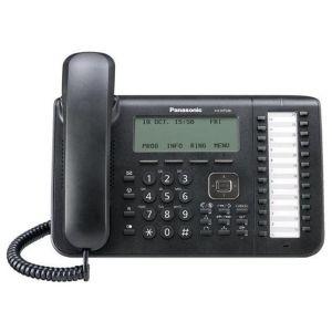 Телефон проводной Panasonic KX-NT546RU-B чёрный радиотелефон dect panasonic kx tg6811rub черный