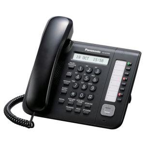 Телефон проводной Panasonic KX-NT551RU-B чёрный радиотелефон dect panasonic kx tg6811rub черный