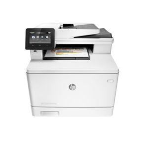 МФУ лазерное HP Color LaserJet Pro M477fnw белый все цены
