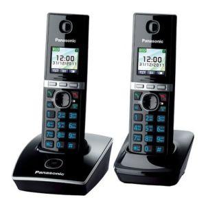 Телефон беспроводной DECT Panasonic KX-TG8052RUB чёрный атс panasonic kx tem824ru аналоговая 6 внешних и 16 внутренних линий предельная ёмкость 8 внешних и 24 внутренних линий
