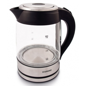 Электрический чайник Starwind SKG4710 серебро/чёрный все цены