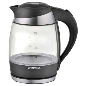 Электрический чайник Supra KES-2009 черный измельчитель электрический supra chs 1125 1 2л 250вт черный серебристый [7226]