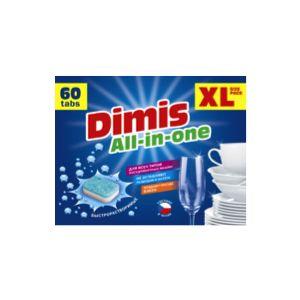 Таблетки для ПММ Dimis All in One 60 таблетки для пмм meine liebe all in 1 21 шт ml 32208