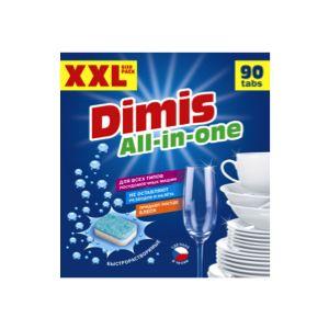 Таблетки для ПММ Dimis All in One 90 таблеткидля пмм allin1 100шт finish