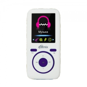 MP3 плеер Ritmix RF-4450 4Gb белый/фиолетовый плеер ritmix rf 4450 4gb синий оранжевый