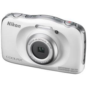 Цифровой фотоаппарат Nikon CoolPix W100 белый фотоаппарат nikon coolpix a10 purple purple lineart 16mp 5x zoom sd usb 2 7