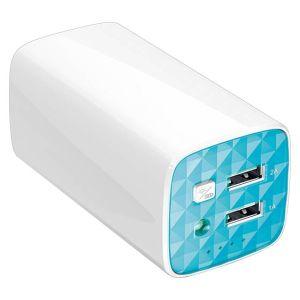 Портативный внешний аккумулятор TP-LINK TL-PB10400 белый/голубой tp link tl wr940n black
