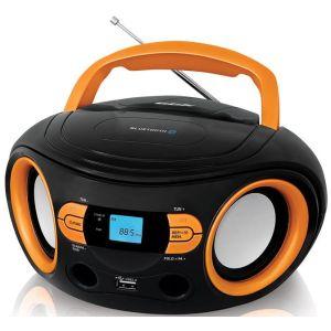 Магнитола BBK BS15BT черный/оранжевый аудиомагнитола bbk bs15bt черный оранжевый bs15bt черный оранжевый