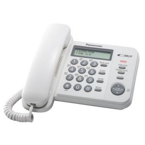 Телефон проводной Panasonic KX-TS2356RUW радиотелефон dect panasonic kx tg6811rub черный