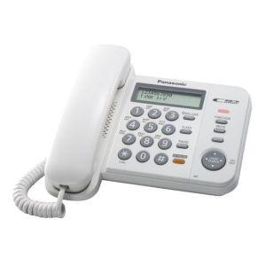 Телефон проводной Panasonic KX-TS2358RUW радиотелефон dect panasonic kx tg6811rub черный