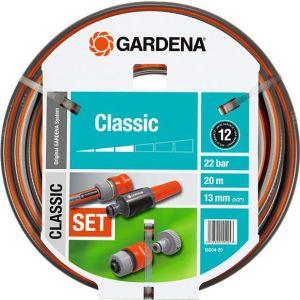 Шланг садовый Gardena Classic 1/2 20м 5 предметов (18004-20.000.00)
