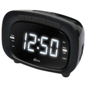 Радиоприемник с часами Ritmix RRC-1250 чёрный радио часы ritmix радиобудильник rrc 1250 white