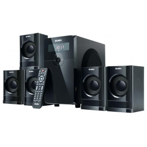 Компьютерные колонки Sven HT-200 чёрный театр с напольной акустикой samsung ht j5550k