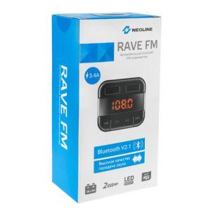 FM-модулятор (трансмиттер) Neoline Rave FM чёрный fm трансмиттер intego fm 102