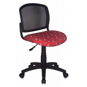 Кресло компьютерное Бюрократ CH-296NX/MOTO чёрный/красный бюрократ бюрократ ch 296nx moto rd красный мотоциклы