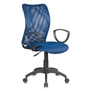 Кресло компьютерное Бюрократ CH-599/DB/TW-10N темно-синий бюрократ кресло компьютерное бюрократ ch 875c mocca мокко