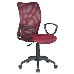 Кресло компьютерное Бюрократ CH-599/DC/TW-13N темно-бордовый бюрократ кресло компьютерное бюрократ ch 875c mocca мокко
