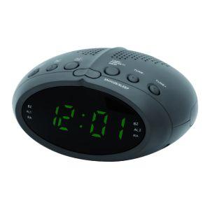 Радиоприемник с часами Supra SA-25FM чёрный/зеленый радиочасы supra sa 16fm