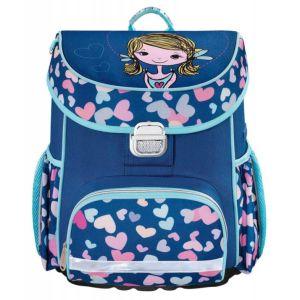 Ранец HAMA Lovely Girl синий/голубой ранец hama sweet owl розовый голубой