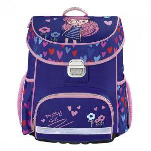 Ранец HAMA Pretty Girl синий/розовый ранец hama sweet owl розовый голубой