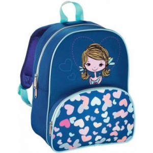 Рюкзак HAMA Lovely Girl синий/голубой рюкзак детский hama sweet owl розовый голубой