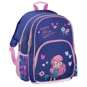 Рюкзак HAMA Pretty Girl синий/розовый рюкзак детский hama sweet owl розовый голубой