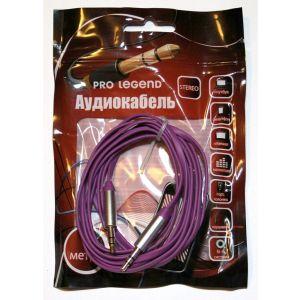 Аудиокабель Pro Legend 3.5 Jack (M) - 3.5 Jack (M) 2м. (PL1026) фиолетовый