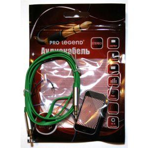 Аудиокабель Pro Legend 3.5 Jack (M)-3.5 Jack (M) 1м. (PL1021) зелёный