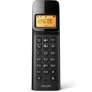 Телефон беспроводной DECT Philips D1401B/51 чёрный