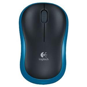 все цены на Мышь беспроводная Logitech Wireless Mouse M185 Blue-Black USB