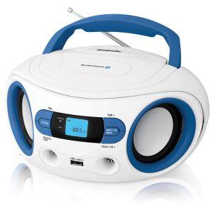 Магнитола BBK BS15BT белый/голубой аудиомагнитола bbk bs15bt черный оранжевый bs15bt черный оранжевый
