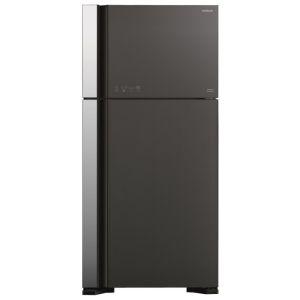 Холодильник Hitachi R-VG 662 PU3 GGR чёрный/металл