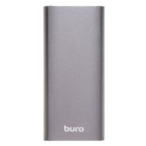 Портативный внешний аккумулятор Buro RB-10000-QC3.0-I&O темно-серый 51 24 1041 i o connectors 1 27mm lfh mtx 50 rc x 50 rcpt hdw mr li